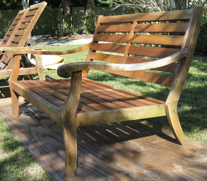 Teakwood Outdoor Furniture   Restoration In Process... Furniture In State  Before Restoration È Ç
